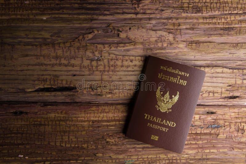 Passaporto che un documento ufficiale ha pubblicato da un governo, c della Tailandia fotografia stock libera da diritti
