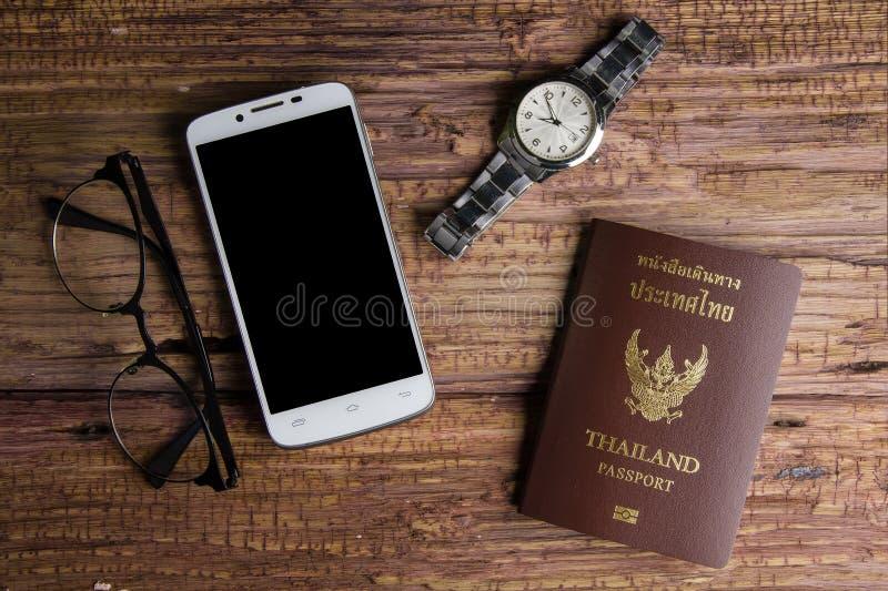 Passaporto che un documento ufficiale ha pubblicato da un governo, c della Tailandia immagine stock libera da diritti