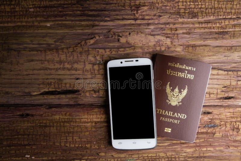 Passaporto che un documento ufficiale ha pubblicato da un governo, c della Tailandia fotografie stock libere da diritti
