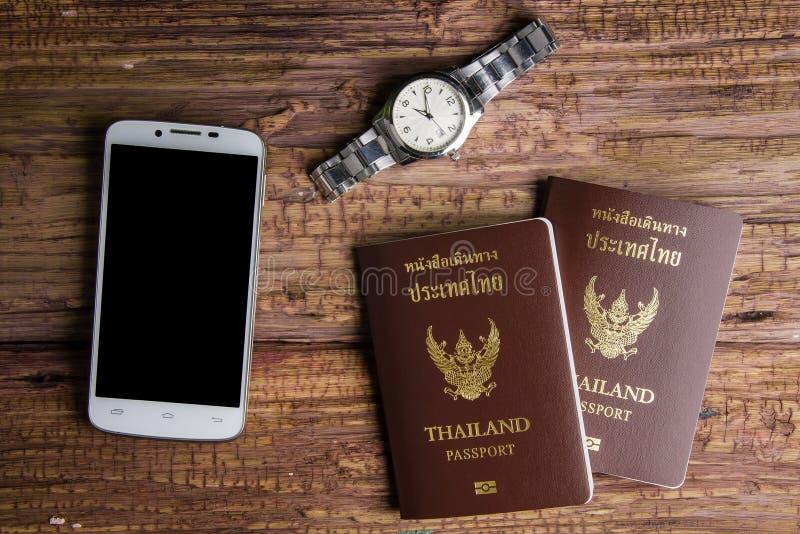 Passaporto che un documento ufficiale ha pubblicato da un governo, c della Tailandia fotografie stock