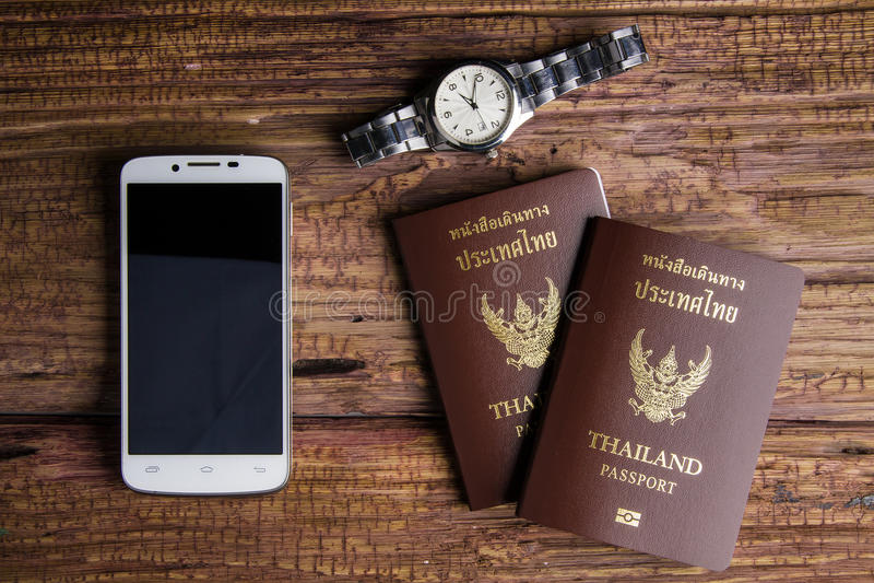 Passaporto che un documento ufficiale ha pubblicato da un governo, c della Tailandia immagine stock