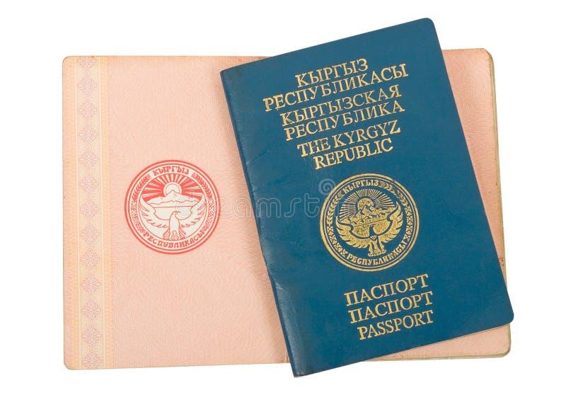 Passaporto chirghiso immagine stock libera da diritti