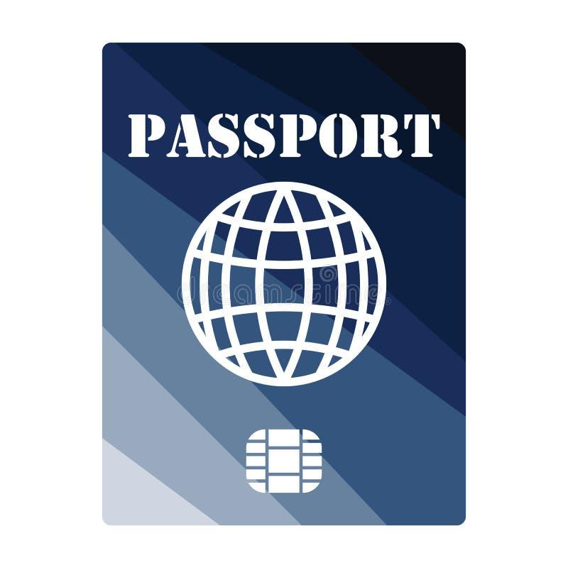 Passaporto con l'icona del chip royalty illustrazione gratis
