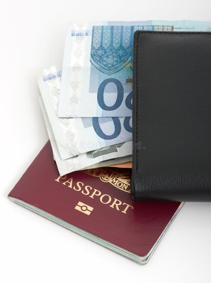 Passaporto e raccoglitore fotografia stock libera da diritti