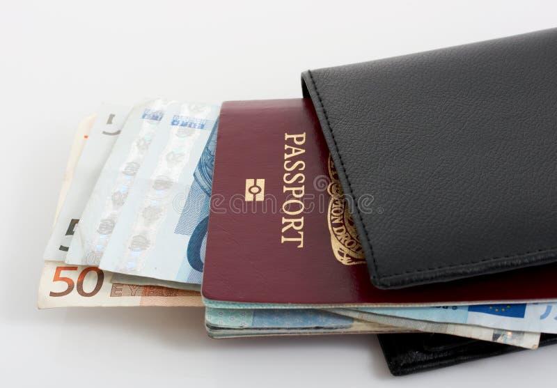Passaporto e raccoglitore immagini stock libere da diritti