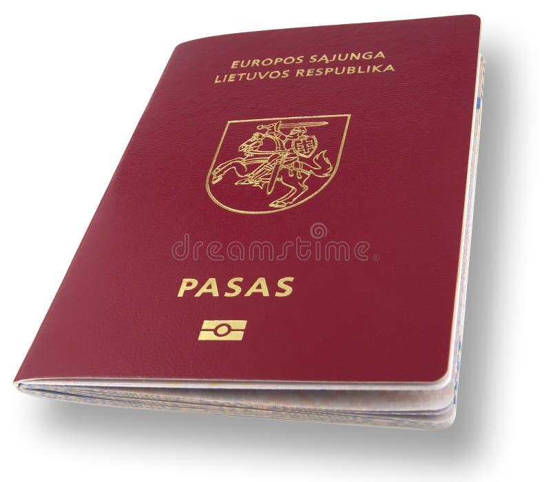 Passaporto lituano con il percorso di residuo della potatura meccanica fotografie stock