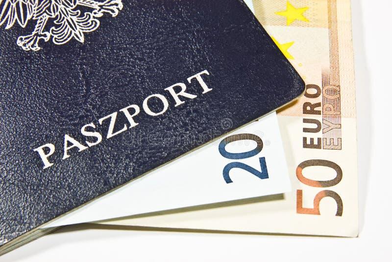 Passaporto polacco fotografie stock libere da diritti