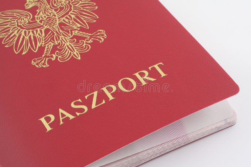 Passaporto polacco immagine stock