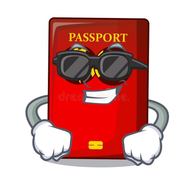 Passaporto rosso fresco eccellente nella borsa del fumetto royalty illustrazione gratis