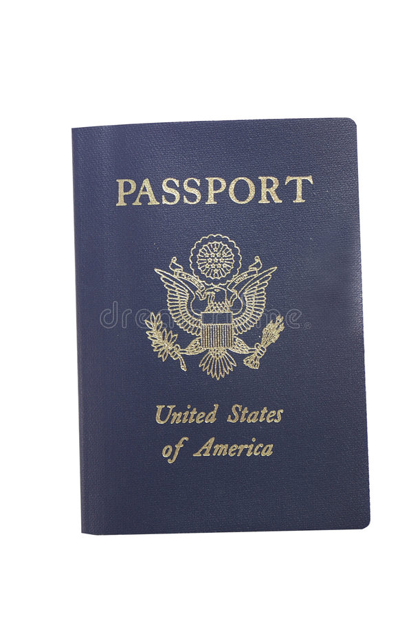 Passaporto su bianco fotografia stock libera da diritti