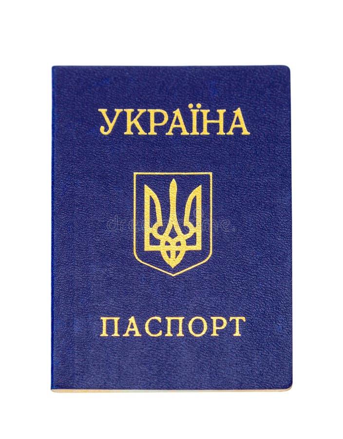 Passaporto ucraino isolato su fondo bianco immagini stock