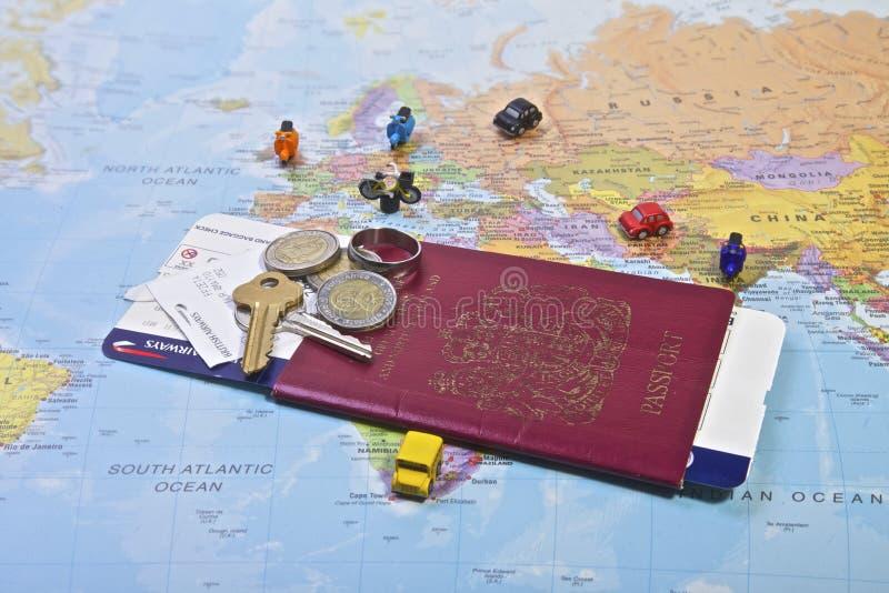 Passaporto, viaggio fotografia stock