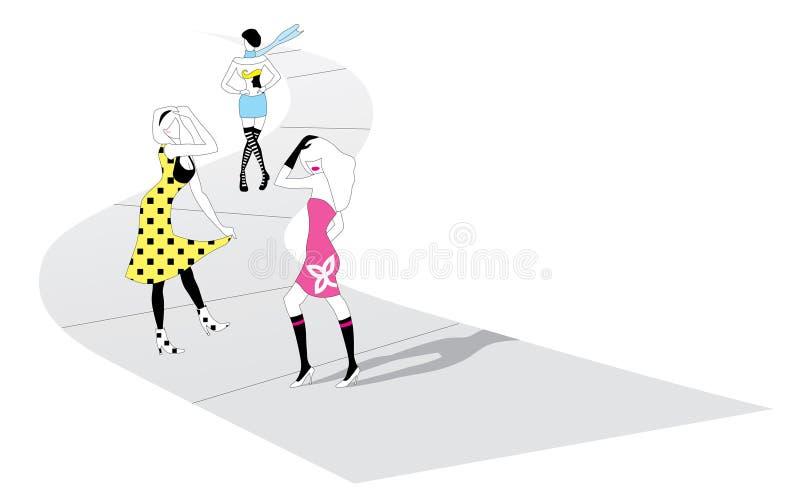 Passarela creativa de NYC ilustração royalty free