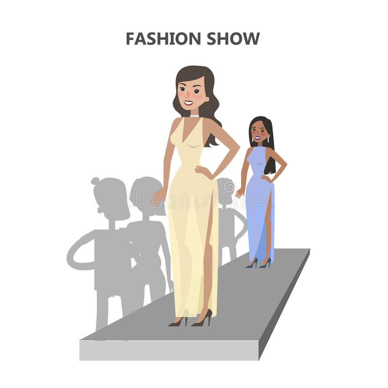 Passarela do desfile de moda ilustração royalty free