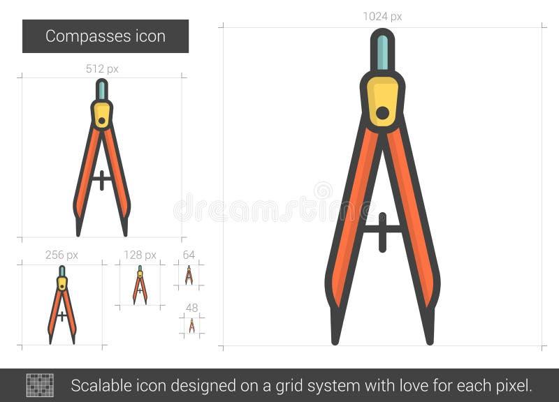 Passarelinje symbol vektor illustrationer