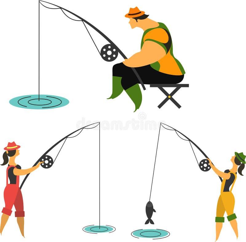 Passatempo da pesca ilustração do vetor