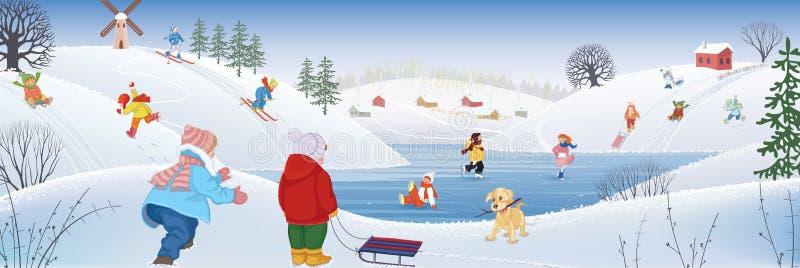 Passatempo di inverno illustrazione di stock