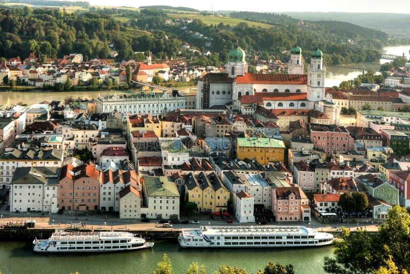 Passau, Beieren, Duitsland stock foto's