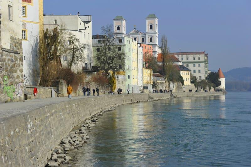 Passau, Inn Promenade stock photo