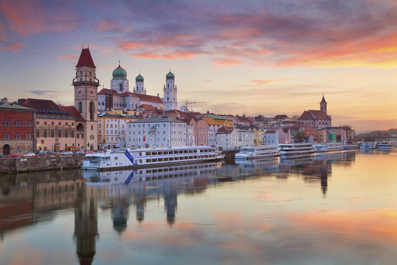 Passau. stock photos