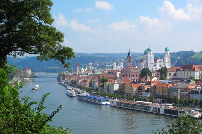 Passau w Bavaria zdjęcie royalty free