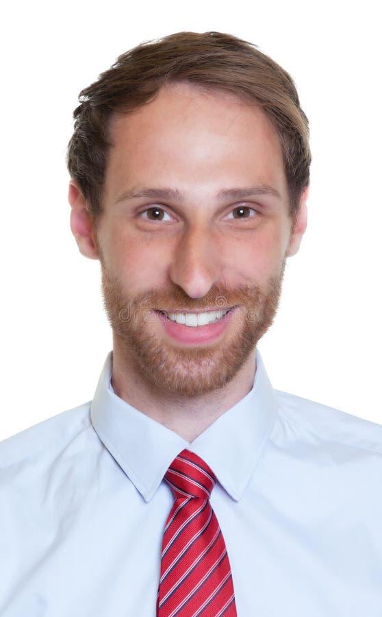 Passbild eines deutschen Geschäftsmannes mit Bart lizenzfreie stockfotografie