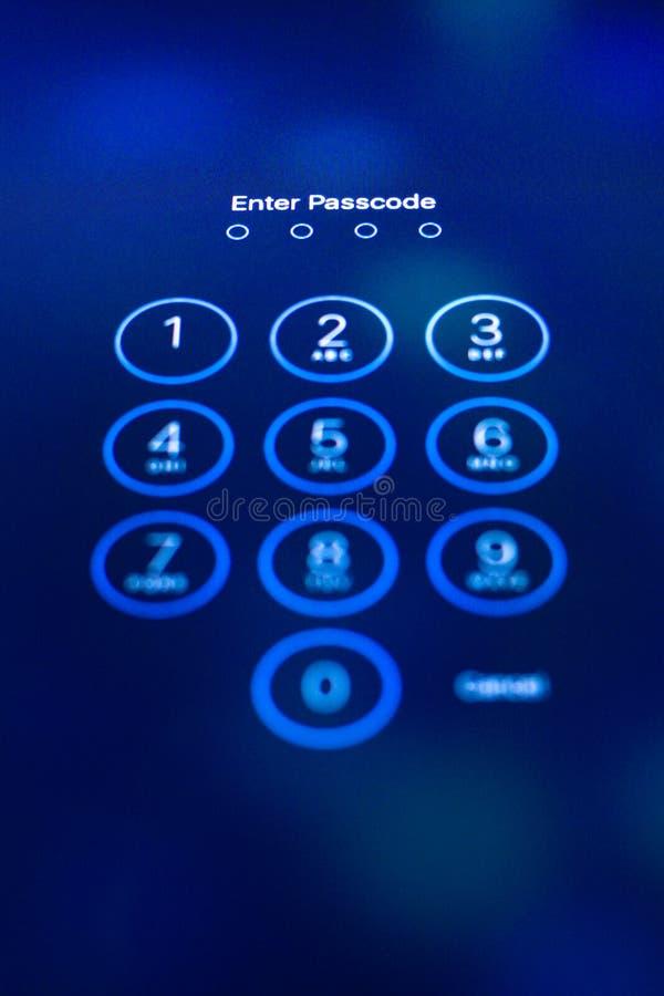 Passcode fotografia stock