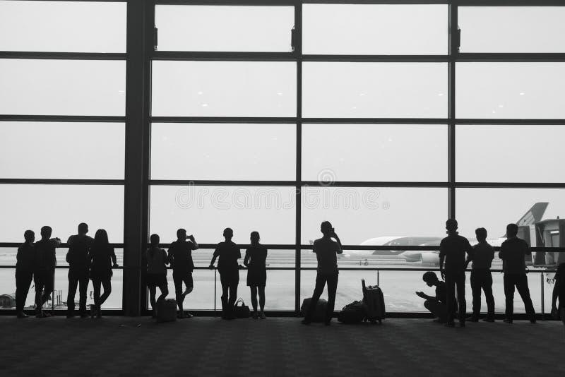 Passeggero in aeroporto fotografie stock