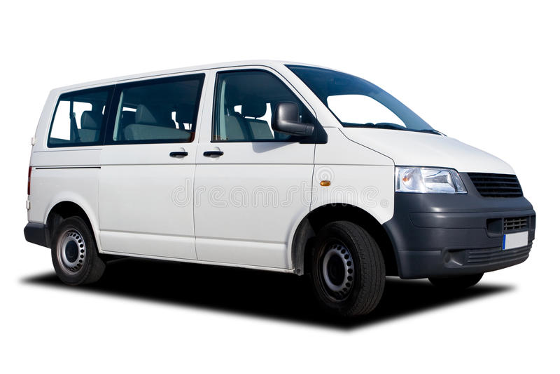 Passeggero Van bianco fotografia stock