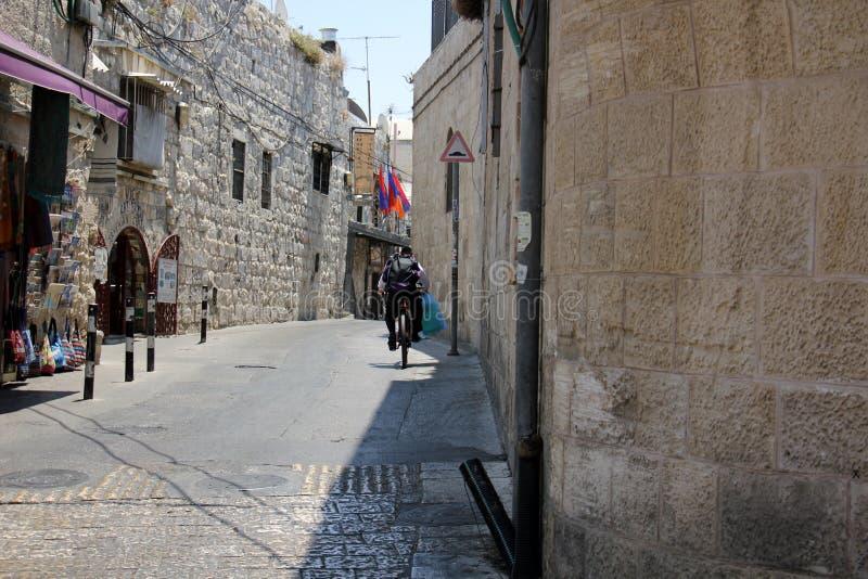 Passeggiata attraverso Gerusalemme antica fotografia stock