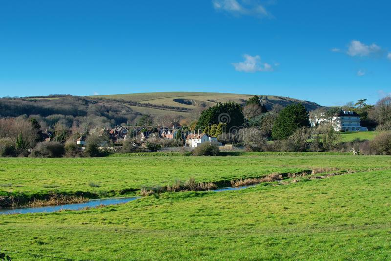 Passeggiata da Alfriston a Lullington, Regno Unito fotografia stock