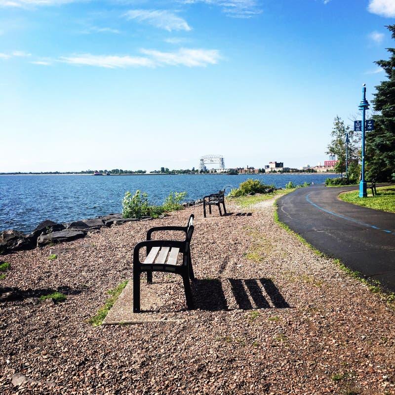 Passeggiata del lago fotografie stock
