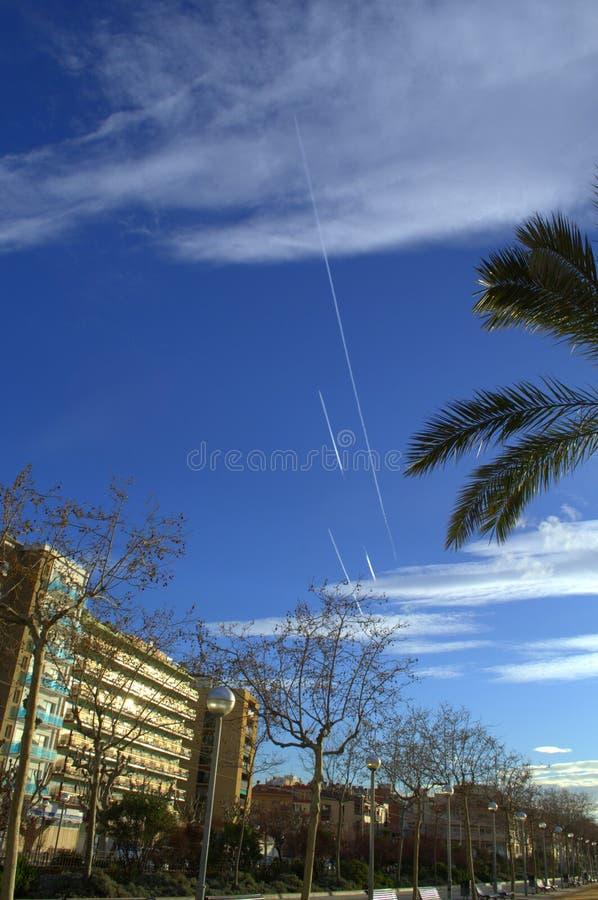 Passeggiata della località di soggiorno di Calella, Spagna immagine stock