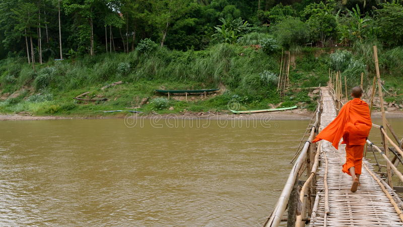 Passeggiata di bambù fotografie stock