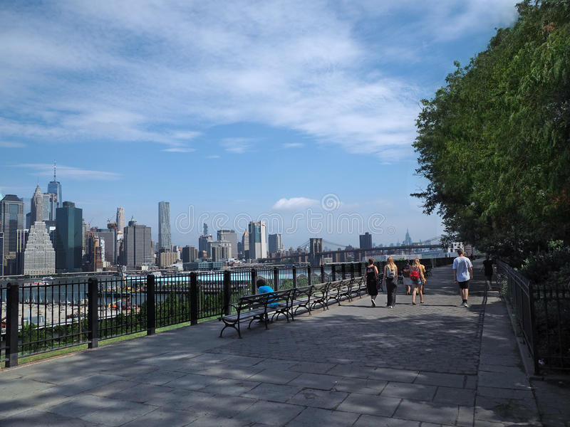 Passeggiata di Brooklyn Heights immagini stock libere da diritti
