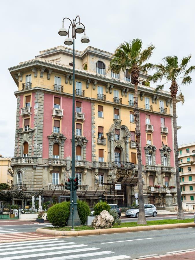 Passeggiata di Corso Italia a Genova, Italia fotografia stock