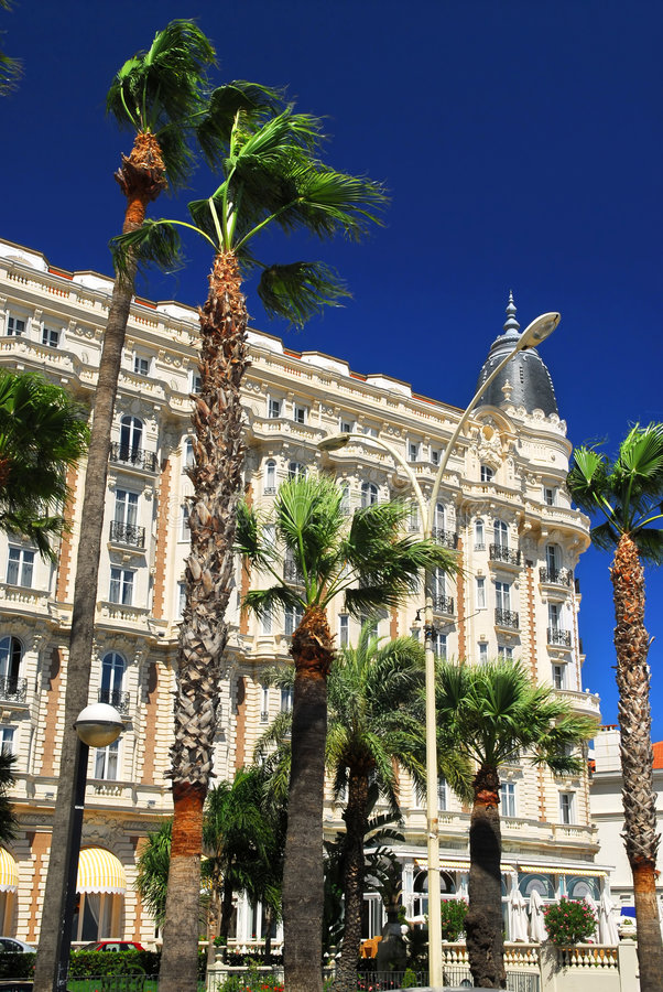 Passeggiata di Croisette a Cannes fotografia stock libera da diritti