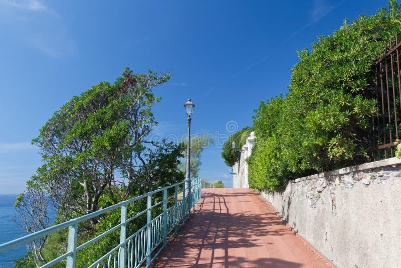 Passeggiata di Genova Nervi immagini stock libere da diritti