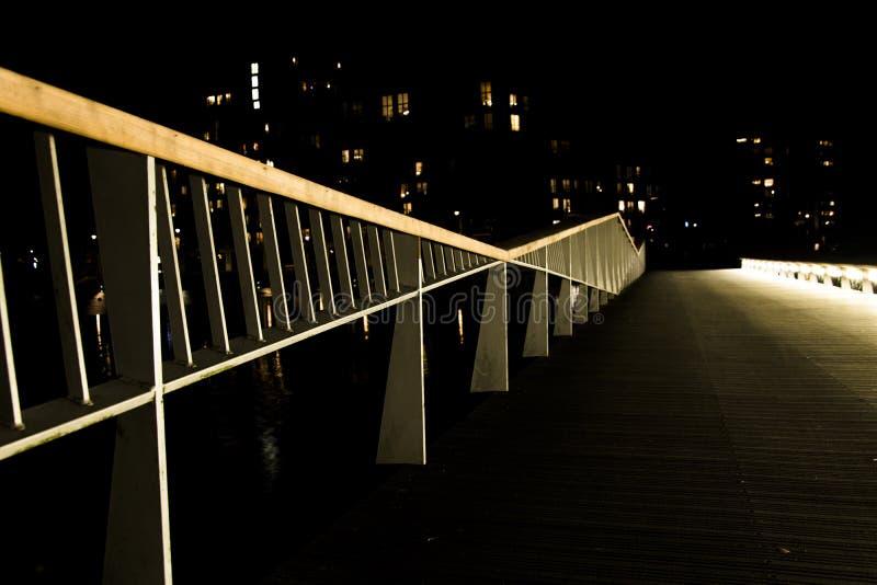 Passeggiata di notte fotografia stock libera da diritti