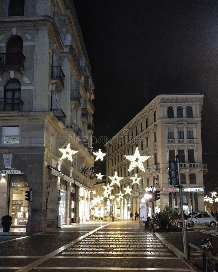 Passeggiata di notte a Padova fotografia stock libera da diritti