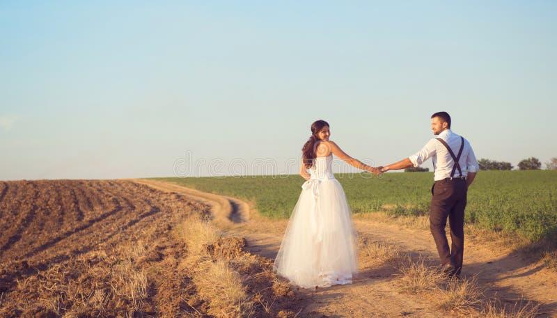 Passeggiata di nozze fotografie stock
