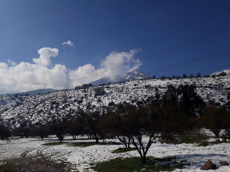 Passeggiata di Snowy fotografie stock libere da diritti