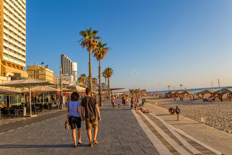 Passeggiata di Tel Aviv fotografia stock libera da diritti