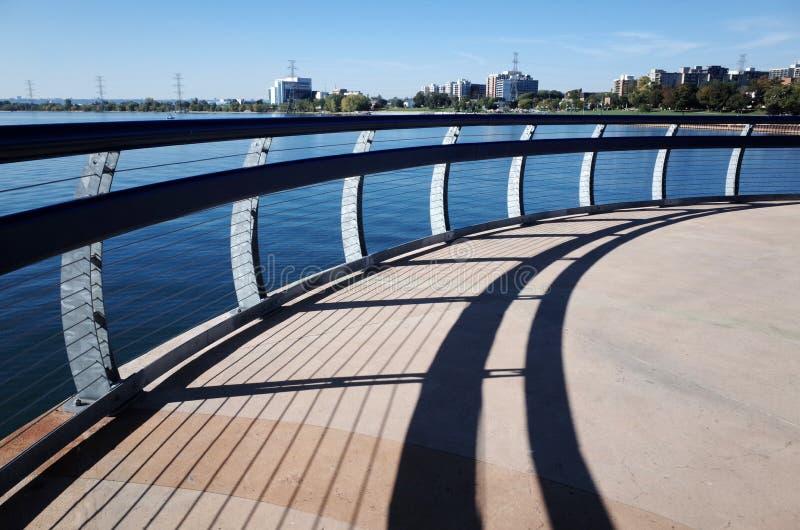 Passeggiata, ombra della balaustra, Burlington immagine stock