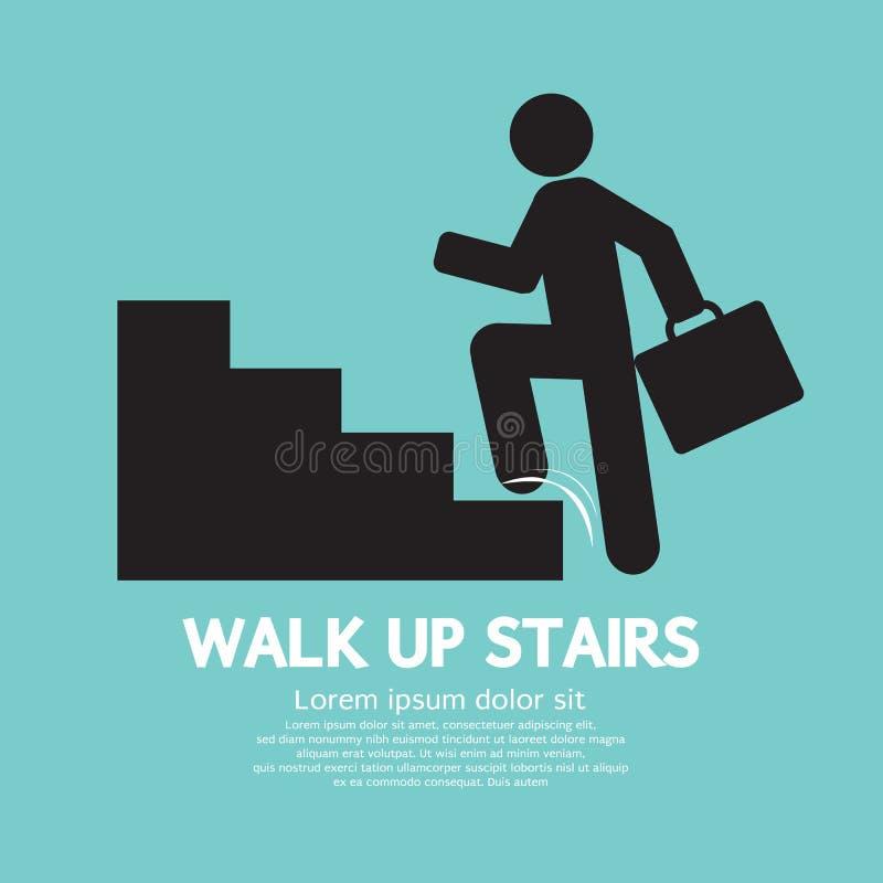 Passeggiata sul simbolo delle scale illustrazione vettoriale