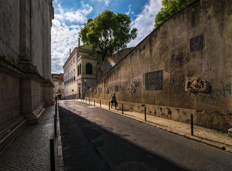 Passeggiate intorno a Lisbona portugal fotografia stock