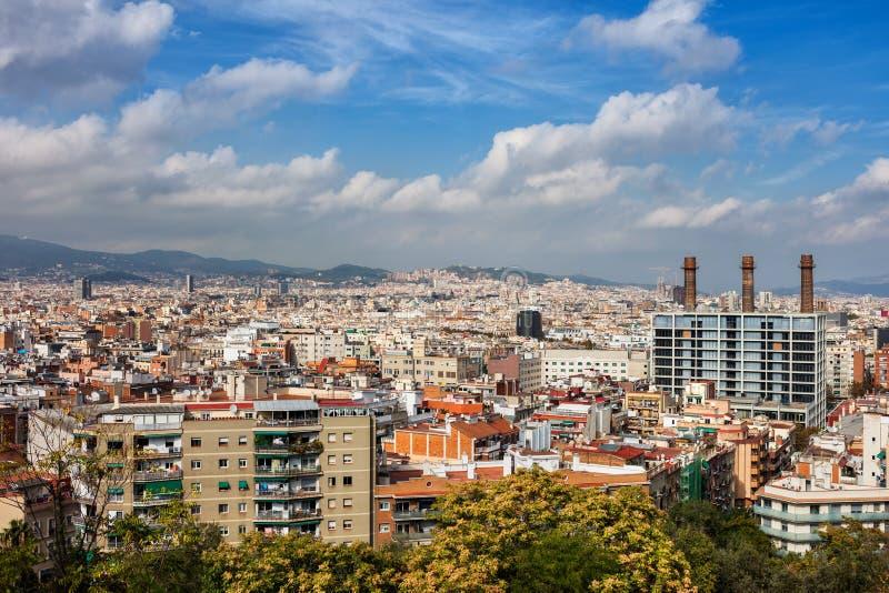 Городской пейзаж Барселоны стоковые изображения