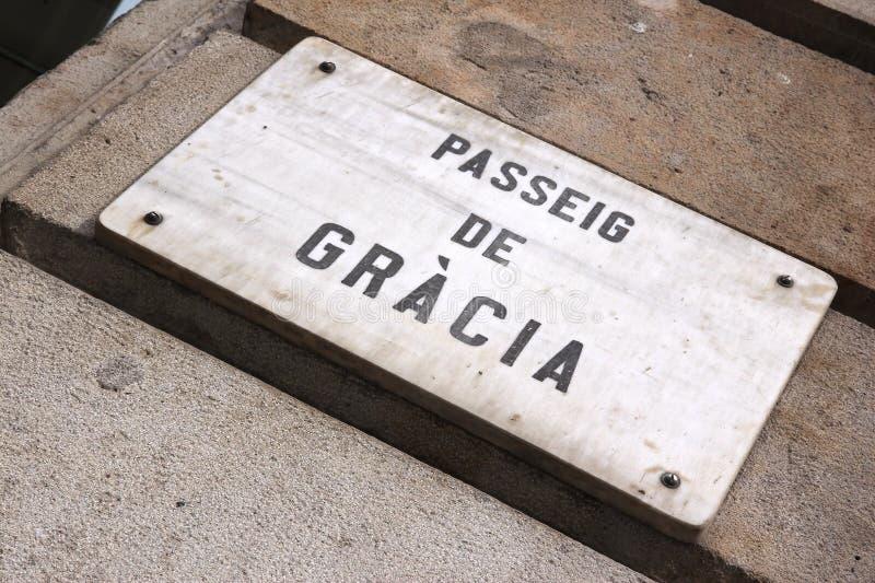Download Passeig De Gracia zdjęcie stock. Obraz złożonej z roczniki - 57655728