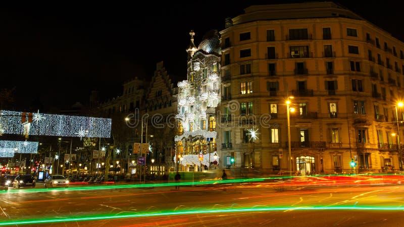 Passeig de Gracia gata, Barcelona fotografering för bildbyråer
