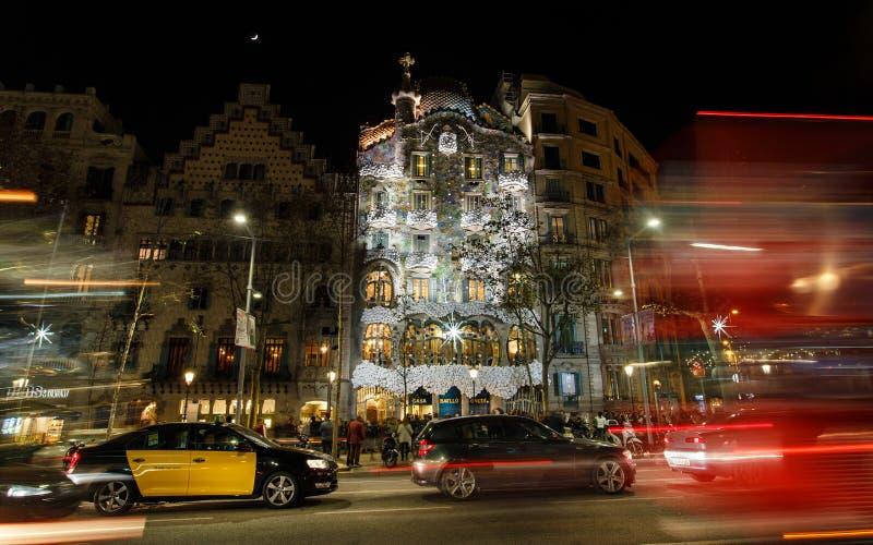 Passeig de Gracia gata, Barcelona royaltyfri bild